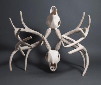 Luger - Interlocked skulls - facing