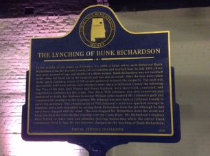Historical Marker sponsored by Equal Justice Initiative to be placed in Gadsden, Alabama